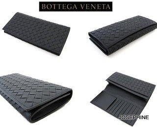 喬瑟芬【BOTTEGA VENETA】清倉特價~120697黑色 BLACK*1000小牛皮 編織 9卡摺疊長夾