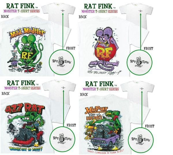 (I LOVE樂多)美原版2013 RAT FINK老鼠芬克個性短衣 美式經典爆力風格 穿出你的個性化