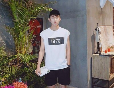 韓國 復古 1970年代 背心 簡約百搭 好穿 寬肩背心 消肩背心 蝙蝠男裝 正品