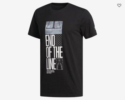 【豬豬老闆】ADIDAS END OF THE LINE 運動 休閒 短T 男款 黑 DX0298 白 DX0299