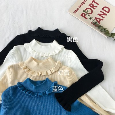 小清新毛衣女甜美季新款韓版修身ins長袖套頭打底毛針織衫
