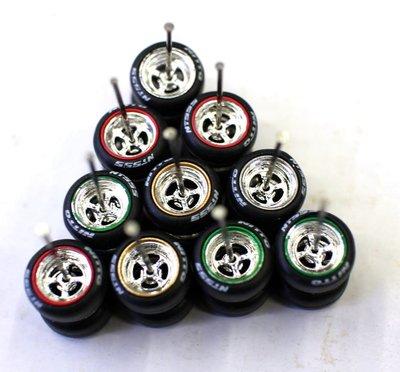 外貿1\/64車模輪胎輪骰輪子風火輪多美卡TOMYM2京商輪胎改裝通用
