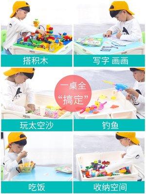 積木城堡 迷你廚房 早教益智兼容積木桌子多功能寶寶拼裝益智男女孩系列智力兒童動腦玩具