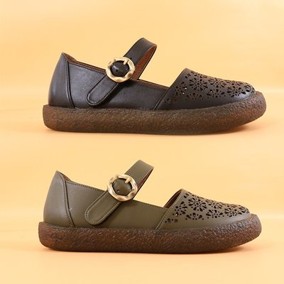 寬腳救星 超靜音  寬楦 瑪莉珍 氣墊鞋 真皮繫帶休閒鞋 丹妮鞋屋  台灣真皮手工鞋