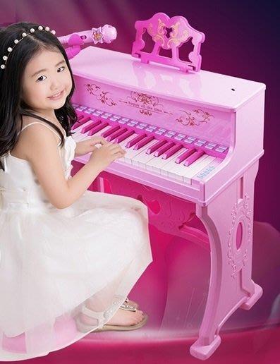 貝迪鷗兒童仿真唯美古典電子鋼琴~卡拉OK伴唱仿真教學鋼琴~附琴椅+麥克風~可接MP3◎童心玩具1館◎