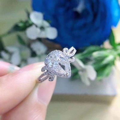 【1卡💧鑽戒 南非鑽石戒指💍 H色, SI淨度, 18K白金鑲嵌】珠寶首飾介指吊墜吊咀