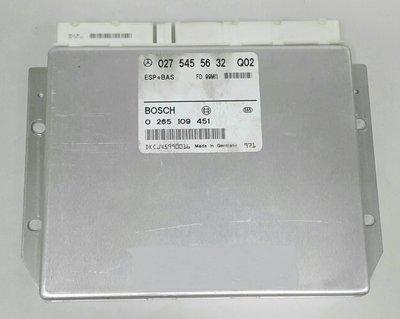BENZ W210 1999-2000 ABS電腦 ASR 電腦 ESP電腦 外匯 0275455632