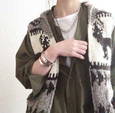 現貨 日本質感品牌 nombre impair 可愛粗針織 麋鹿 毛衣 背心