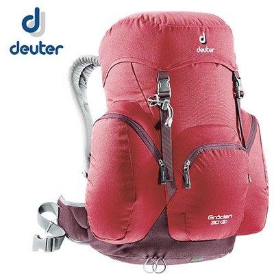 丹大戶外【Deuter】德國 Groden 30 網架直立式拔熱透氣休閒旅遊登山背包 3430216 紅