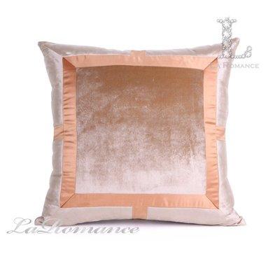 【芮洛蔓 La Romance】東方雅韻系列粉橘色拼布造型抱枕 / 靠枕 / 靠墊 / 方枕