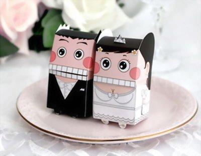 ☆命中注定☆超可愛西式卡通娃娃喜糖盒,.婚禮小物二次進場