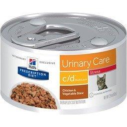 希爾思®處方食品 貓用c/d™ stress 全效舒緩緊迫雞肉燉蔬菜罐82公克6罐/盒