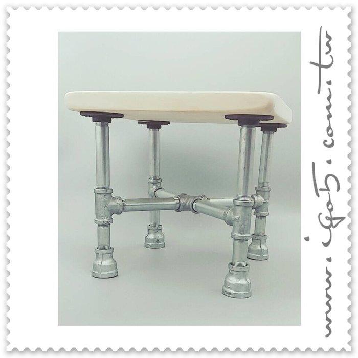 [ 鈦鴻興業 ] 工業風 材料包 QDBF199 精簡小矮凳 LOFT 復古 DIY材料包