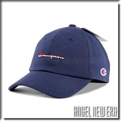 【ANGEL NEW ERA 】日線 Champion 台灣公司貨 草寫 老帽 軟版 棉布 海軍藍 鴨舌帽 潮流