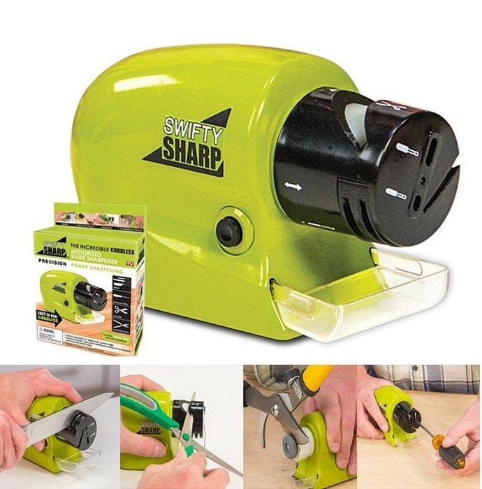 電動磨刀器 swifty sharp 高 磨刀石 自動 磨刀機 TV  磨刀不求人 廚房用