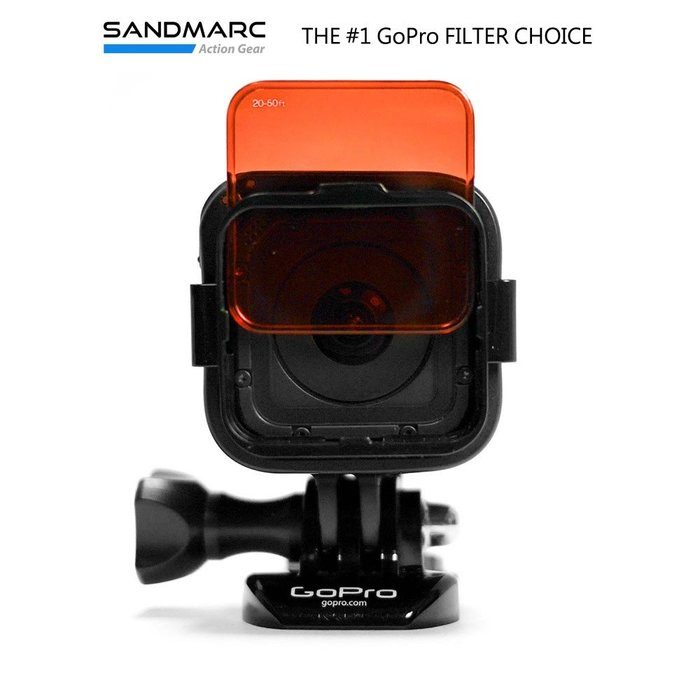 SANDMARC GoPro(Hero Session / 標準框適用) 水中偏光濾鏡套組 5片裝 台南PQS 免運費