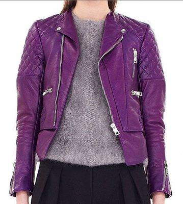Balenciaga 264215 Quilted leather biker jacket 菱格紋機車皮衣 紫 現貨