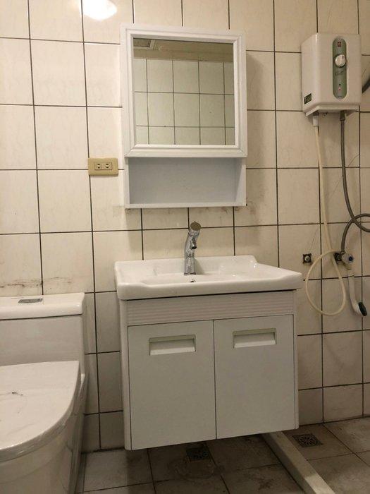 FUO衛浴: 虧本出清商品60公分鈦鎂鋁合金浴櫃(含龍頭)
