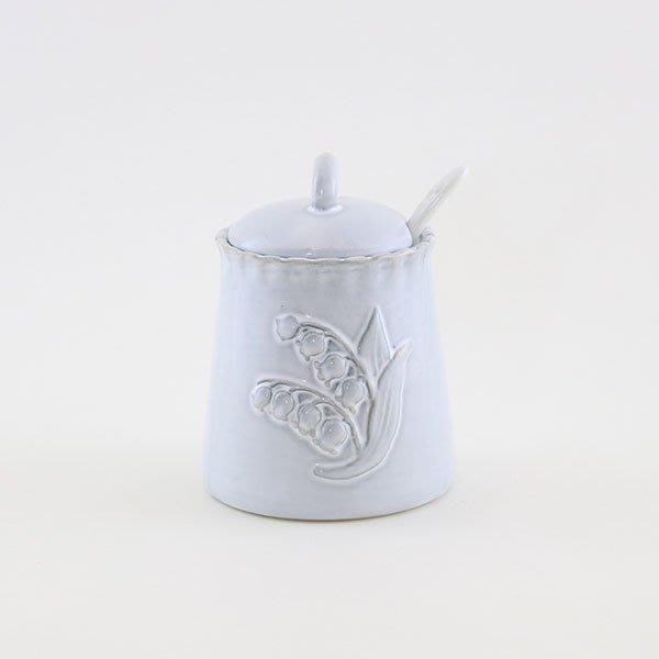 《齊洛瓦鄉村風雜貨》日本zakka雜貨 日本新款鈴蘭系列糖罐 方糖罐 陶瓷糖罐 下午茶必備