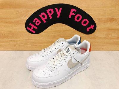 ?Happy Foot? Nike Air Force 1 白色 白灰 藍紅 鴛鴦 斷勾 898889-103
