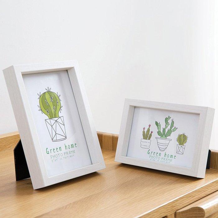 清潔簡白木紋平邊相框 婚紗裝飾擺臺 客廳 掛墻相片照片墻畫框