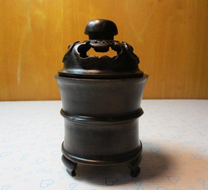 特價[中型古典20年老黄銅爐] 宣德小乾坤焚香爐  / 爐中有乾坤,計算在心中,盡在不言中,謀事可成功!主詳細規劃必成大吉。