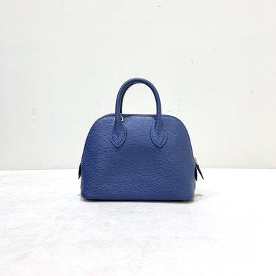 Hermes Mini Bolide 山羊皮 金釦 7E Blue Brighton 布萊頓藍《精品女王全新&二手》