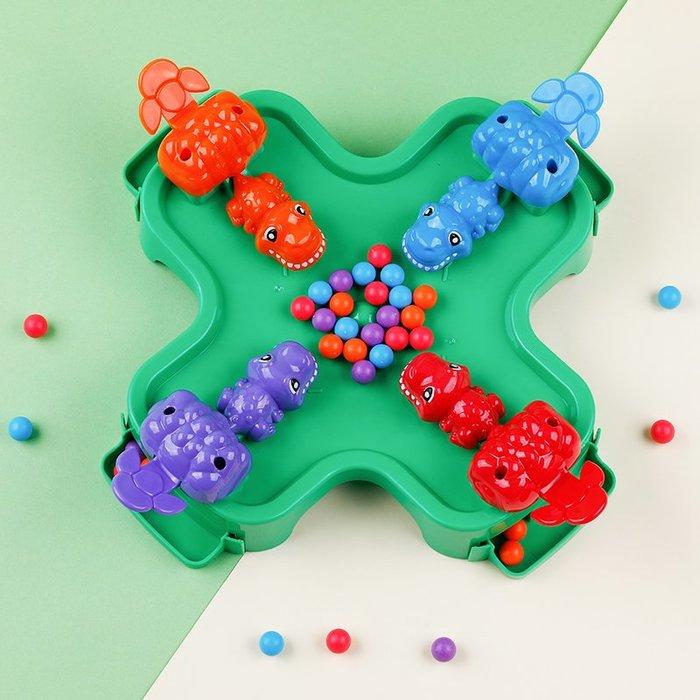 衣萊時尚-兒童桌面游戲親子互動專注力訓練益智類邏輯抖音同款恐龍吃豆玩具(規格不同價格不同)