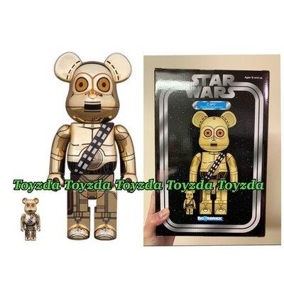Medicom 2019 Star Wars C3PO 400% + 100% be@rbrick bearbrick set