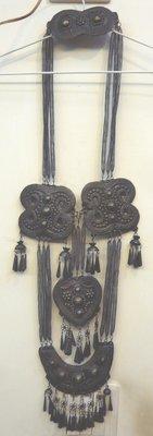 鄉親@文化~早期收藏~藏銀~少數民主項鍊首飾~西藏項鍊~約寬24~高78