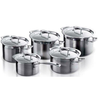 【法國精品廚具 Le Creuset】不鏽鋼 鍋具組 五件組 燉鍋組