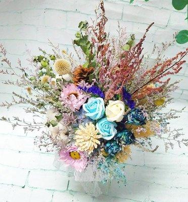 韓式乾燥花花束 永生花 畢業花束 情人節 生日禮物 乾燥花