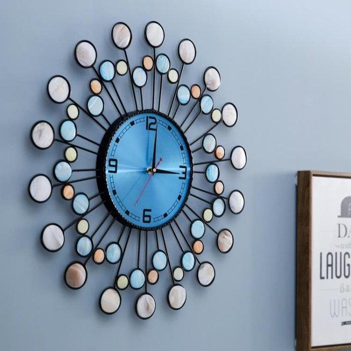 時鐘北歐現代簡約大鐘表掛鐘時鐘客廳創意時尚個性家用藝術掛表石英鐘 DF