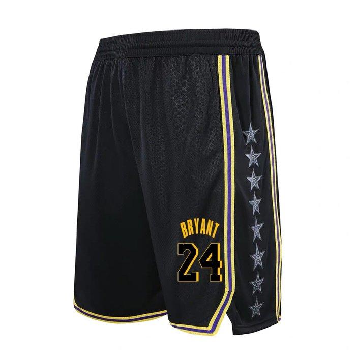 💖黑曼巴Kobe Bryant科比運動籃球短褲💖NBA球衣湖人隊Adidas愛迪達健身訓練慢跑五分純棉褲子男女383