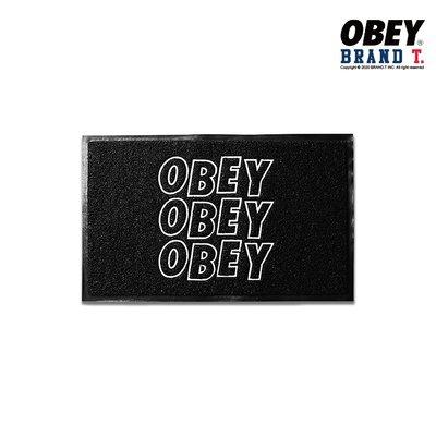 【Brand T】OBEY JUMBLE STACKS DOORMAT 字體 LOGO 地毯 地墊 腳墊 腳踏墊 滑板