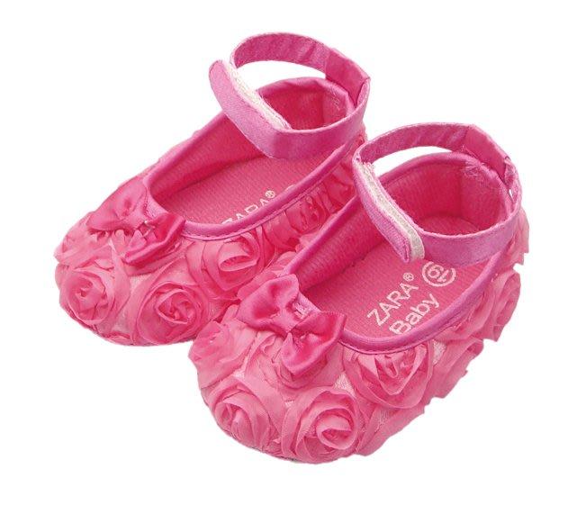 BHA020-ZARA 漂亮玫瑰寶寶學步鞋【出清價】100元