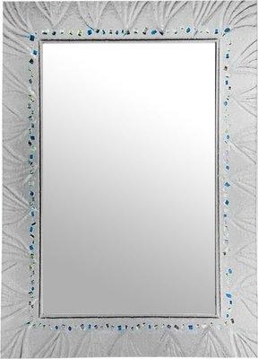 I-HOME 鏡子 MHW-667 星砂琉璃壓鑄鏡80*60CM 玄關鏡 化妝鏡 浴鏡 (琉璃有透感)