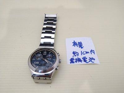☆誠信3C☆最划算☆功能正常 (請自行換電池+有一小裂)二手 三眼 swatch IRONY 手錶 只賣980