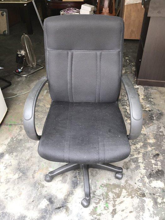 非凡二手家具 黑布高背辦公椅(可升降)*電腦椅*油壓椅*氣壓椅*會計椅*洽談椅*接待椅*書桌椅