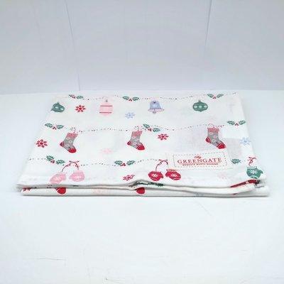 丹麥品牌 GREENGATE Jingle bell white 茶巾 50X70cm 全新專櫃正品