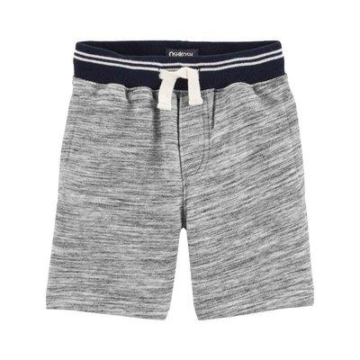 【Carter's】CS男童棉短褲藍腰花灰 F03191003-04
