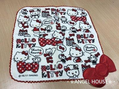 。☆ANGEL HOUSE☆。日本進口**hello kitty**大蝴蝶結小方巾454