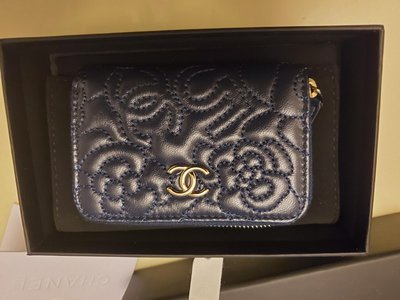 Chanel Navy Blue Cardholder New