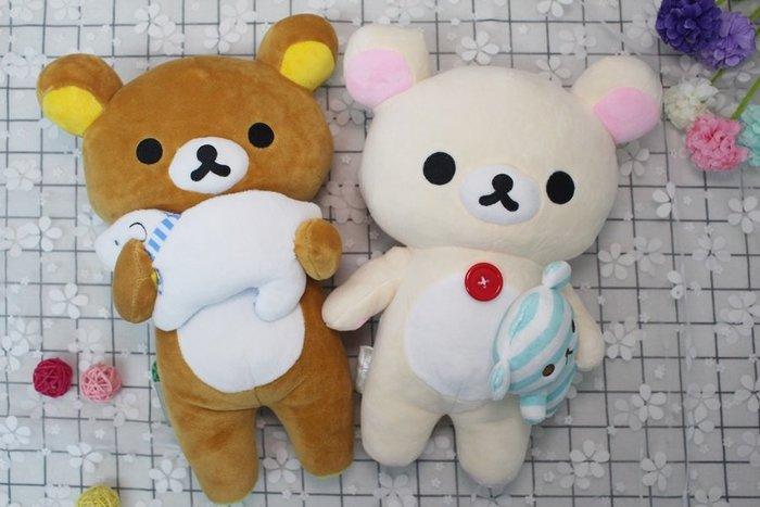 【高弟街百貨】正版拉拉熊娃娃玩偶 牛奶熊娃娃玩偶 棕熊娃娃玩偶 米熊娃娃玩偶 拉拉熊抱北極熊娃娃玩偶 牛奶熊抱小熊娃娃