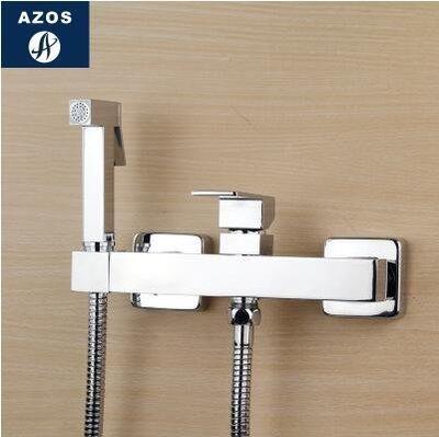 【優上】冷熱增壓手持花灑婦洗器淋浴噴頭馬桶閥龍頭套裝「A款方形」