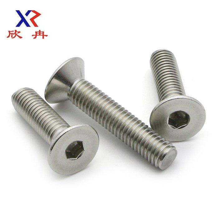 衣萊時尚-【M6*8-100】304不銹鋼平頭/沉頭內六角螺絲釘/平杯螺絲DIN7991