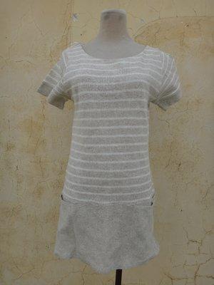 jacob00765100 ~ 正品 日本樫山 Full Carat 棕色橫紋 長版上衣 size: 2