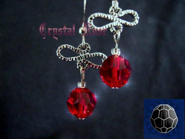 ※水晶玫瑰※ SWAROVSKI 8mm水晶珠 耳勾式針式耳環(DD348)~出清~三對免郵