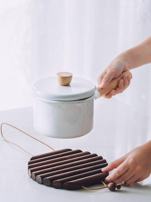 預售款-LKXD-魚骨隔熱墊 歐式黑胡桃木鍋墊 家用防燙耐熱餐桌墊碗墊子