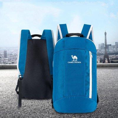 運動包駱駝 CAMEL 戶外10L男女通用雙肩背包徒步登山野營戶外休閑運動背包 8W3AMT012 海藍色